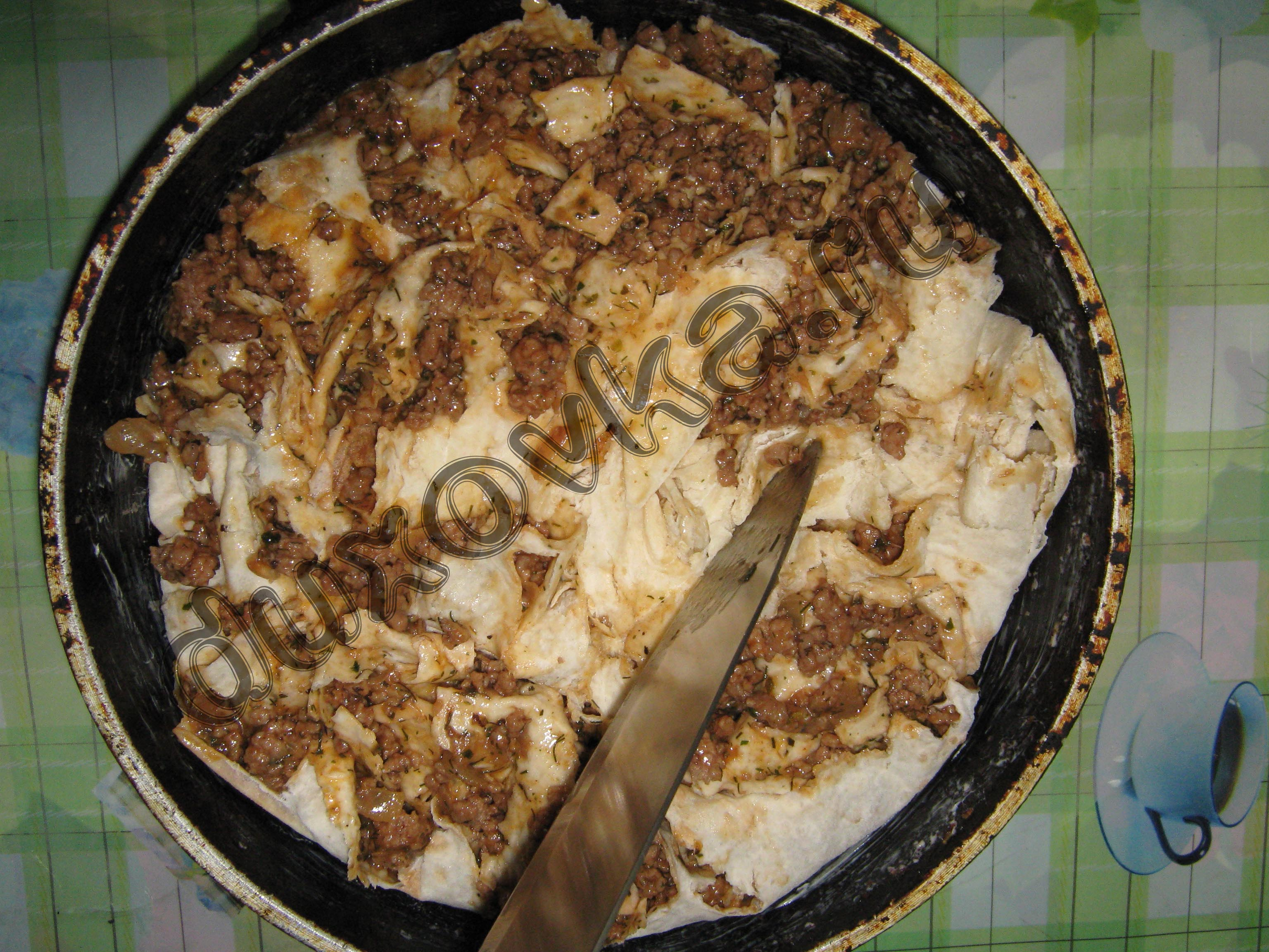 Ракушки с фаршем на сковороде рецепт пошагово
