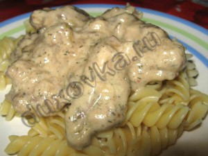 Фото: Мясо в сметанном соусе