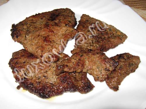 Отбивные из говядины - рецепт с пошаговыми фото