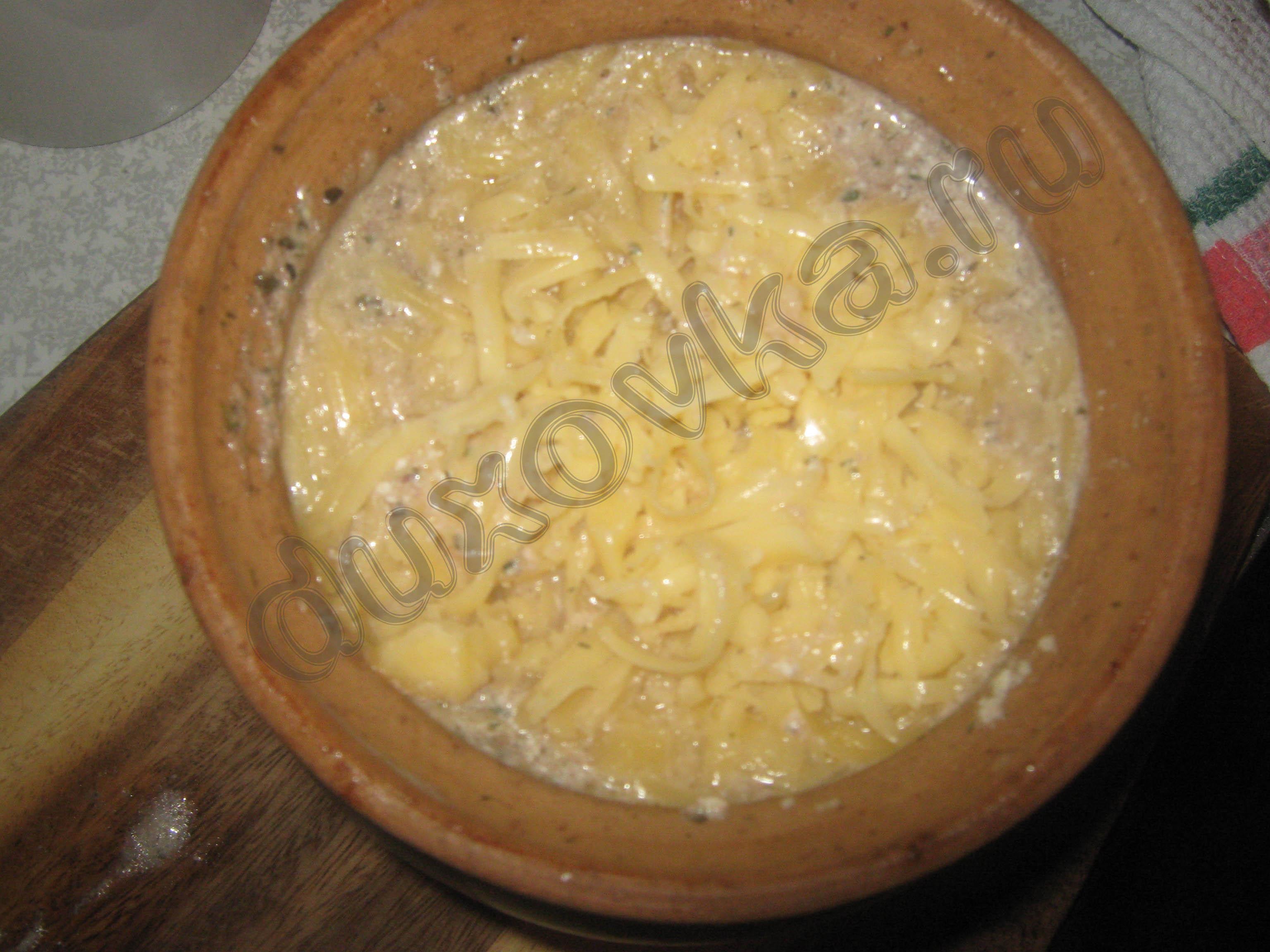 Мясо в горшочках с картошкой в микроволновке пошаговый рецепт