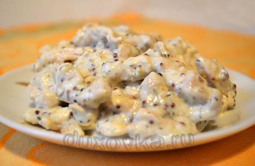 куриная грудка в сметанном соусе на сковороде рецепт