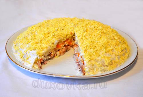 Мимоза рецепт с курицей рецепт