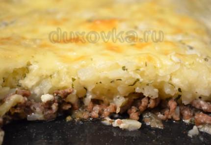 Фото: Запеканка с фаршем и картофелем в духовке