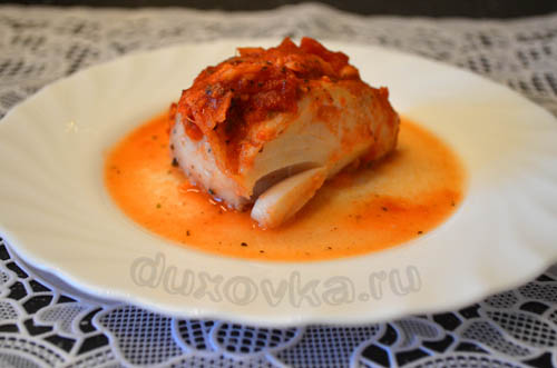 Запеченное филе трески рецепт с фото
