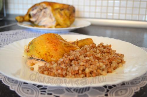 курица в газовой духовке с корочкой рецепт с фото