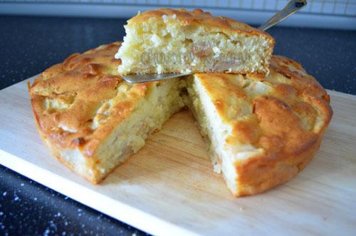 рецепт шарлотки с яблоками с кефиром