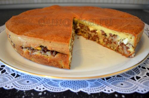 Заливной пирог на простокваше рецепт с в духовке