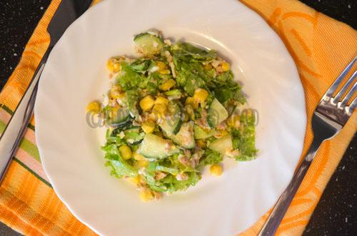 салат из тунца с яйцом рецепт простой