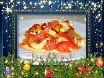 Салат с огурцами на стол рецепт